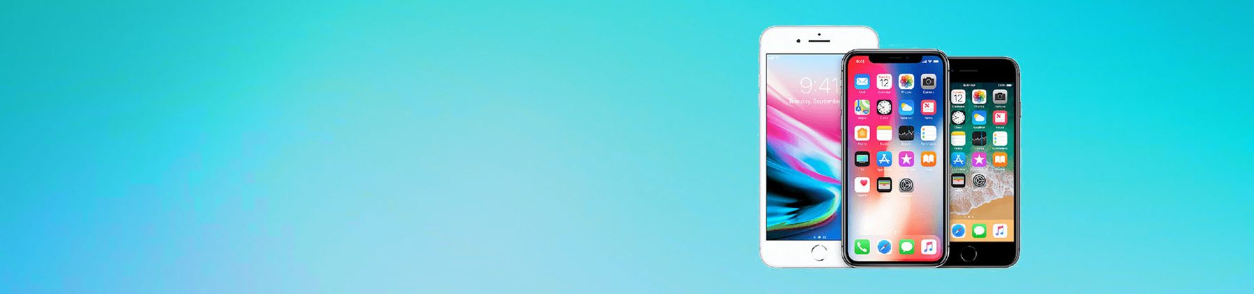 Iphone Category Banner Blue